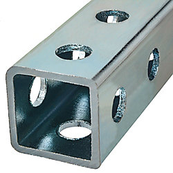 Paulin 1 x 36-inch Perforated Steel Square Tube - Zinc Plated