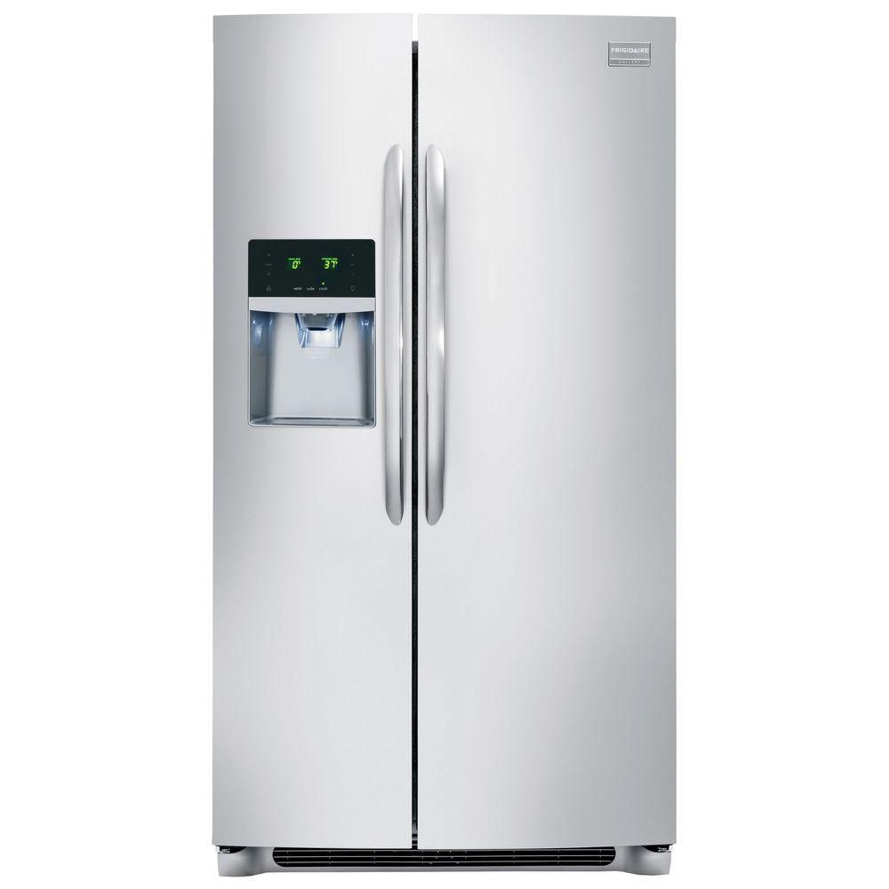 Gallery 22.2 cu. ft. Counter Depth Side-by-Side Refrigerator in Stainless Steel