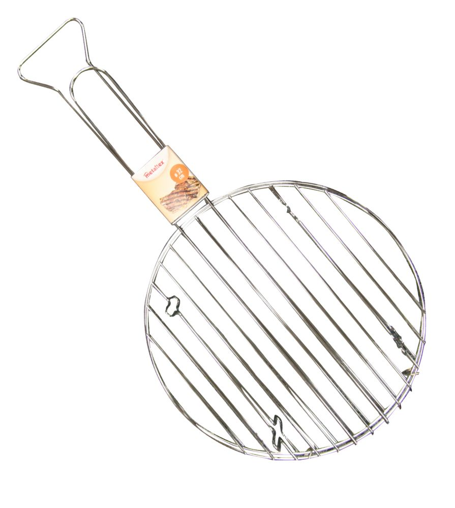 Chrome Plated Round Meat Grill 32CM