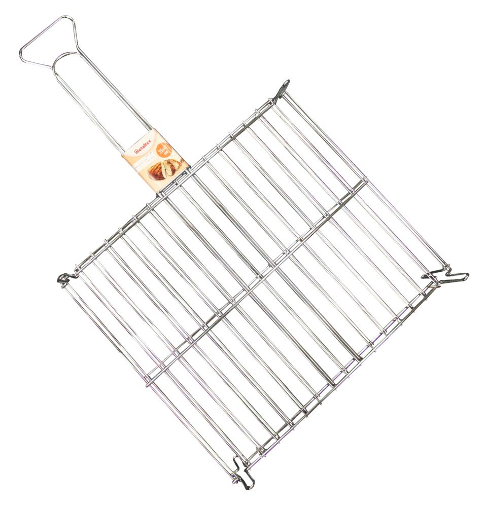 Metaltex Chrome Plated Rectangular Meat Grill 35 X 41 CM