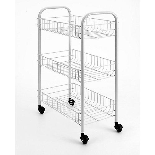 Sienna Rolling Cart 3-Tier 41 X 23 X 63 CM