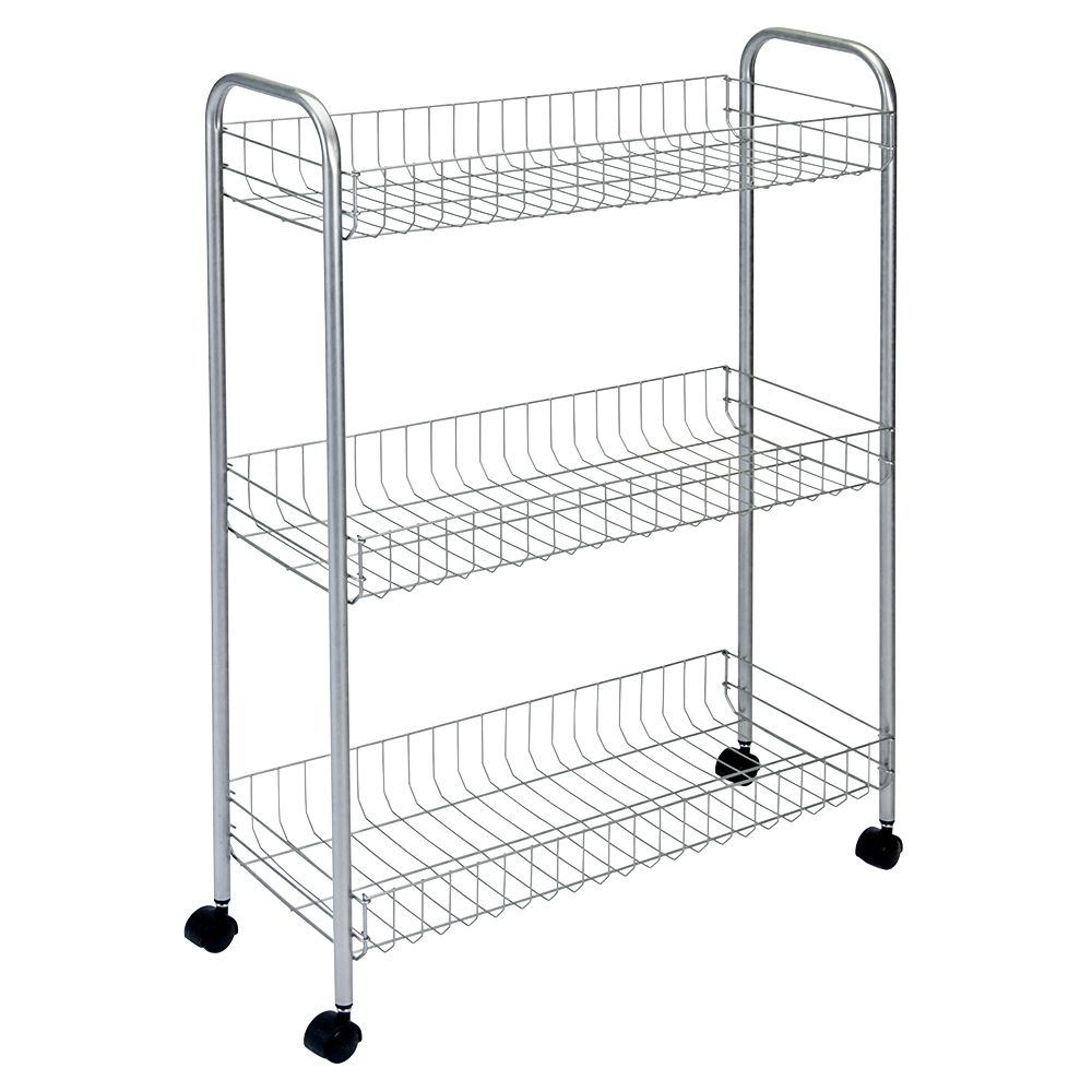 Polytherm - Slim Deluxe Rolling Cart 3-Tier 56 X 23 X 84 CM