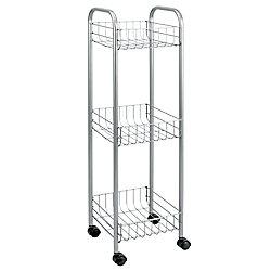 Metaltex Polytherm - Toronto Rolling Cart 3-Tier 23 X 23 X 83 CM