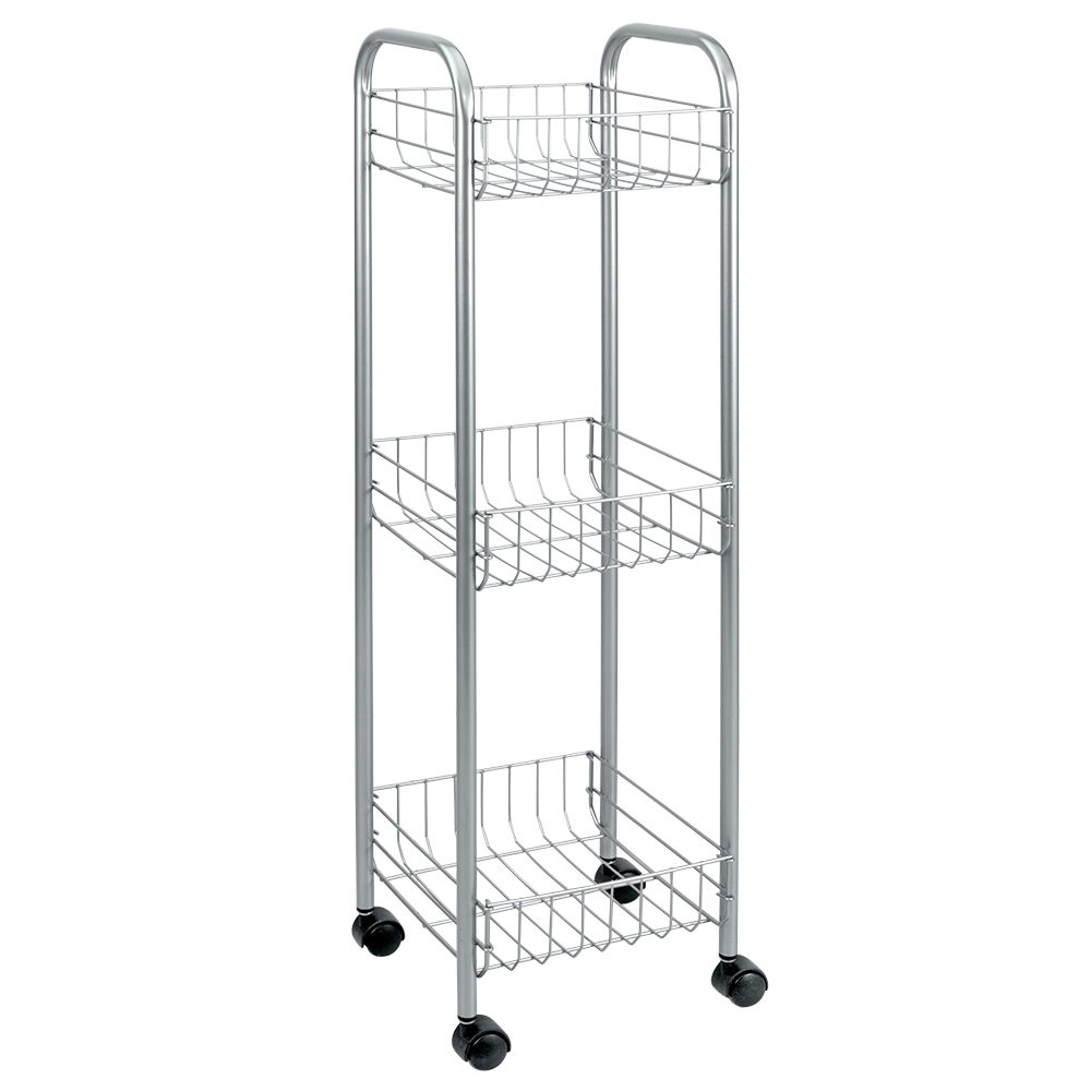 Polytherm - Toronto Rolling Cart 3-Tier 23 X 23 X 83 CM