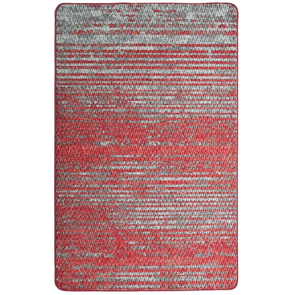Lanart Rug City Stripe Red 2 ft. 4-inch x 3 ft. 9-inch Rectangular Mat