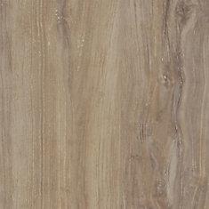 Plancher en planches de vinyle de luxe de 7,5 po x 47,6 po (19,8 pi2 / caisse) en chêne gris vieilli verrouillable