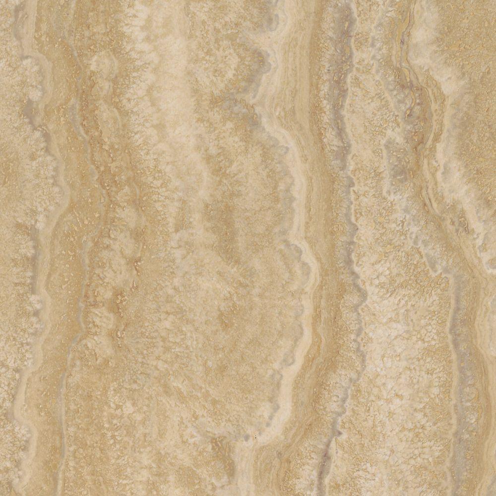 12  Inch  x 23.82  Inch  Aegean Travertine Ivory Vinyl Tile Flooring (19.8 sq.ft./case)