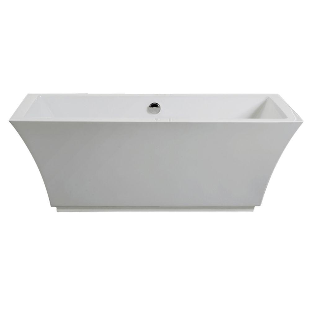 Tofino Acrylic Freestanding Flatbottom Non Whirlpool Bathtub
