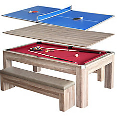 Newport - Ensemble de table de billard 2,13 m (7 pi) avec bancs