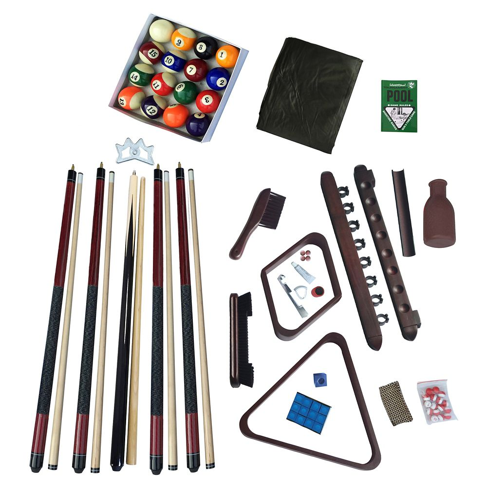 Deluxe Billiards Accessory Kit - Mahogany Finish
