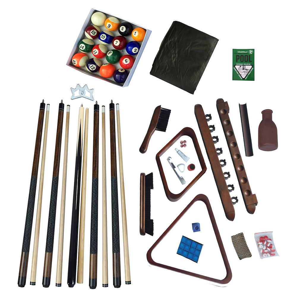Deluxe Billiards Accessory Kit - Walnut Finish
