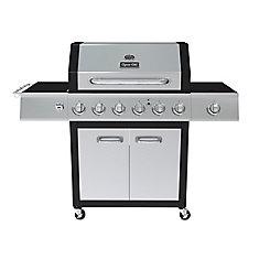 Dyna-Glo 6-Burner Propane Gas BBQ with Side Burner