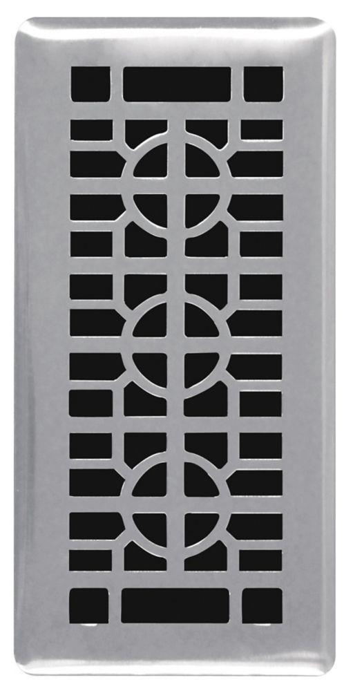 Hampton Bay 4-inch x 10-inch Brushed Nickel Floor Register (3-Pack)