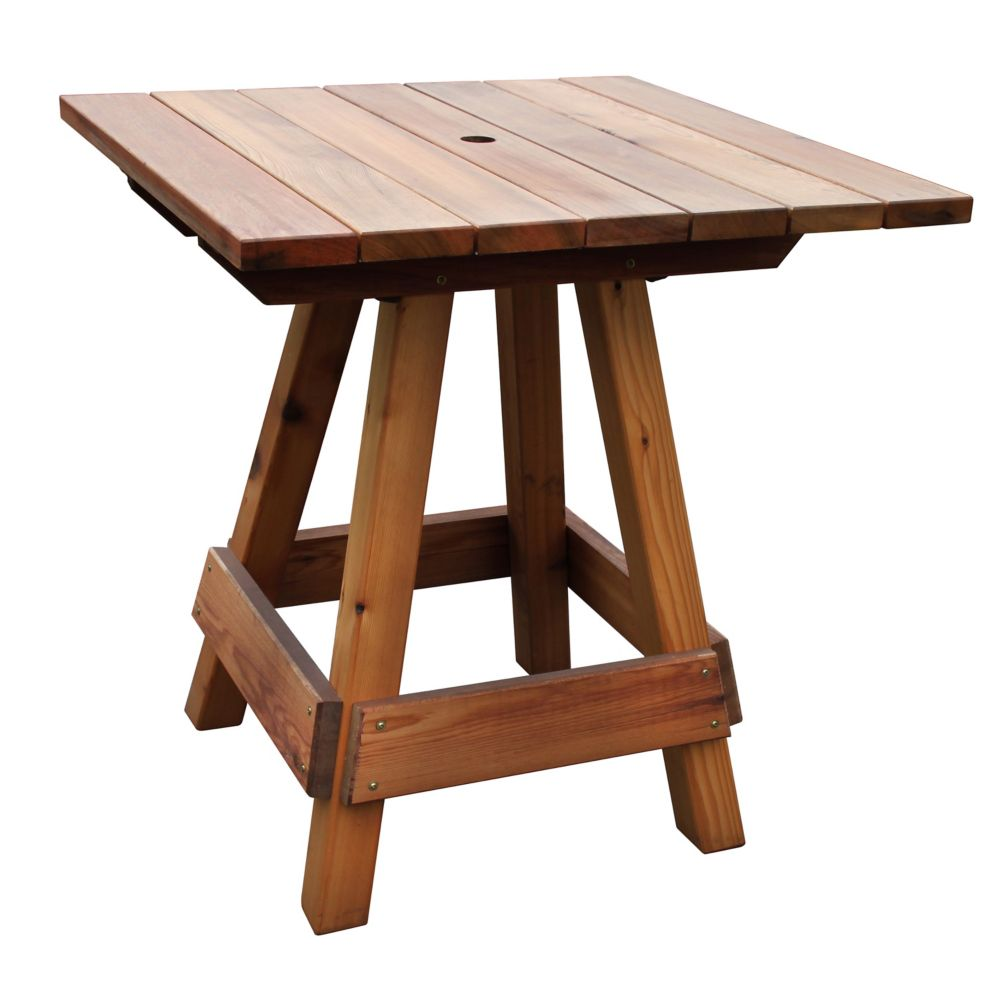 39 x 59 x 42 Finished Picnic High Top Table
