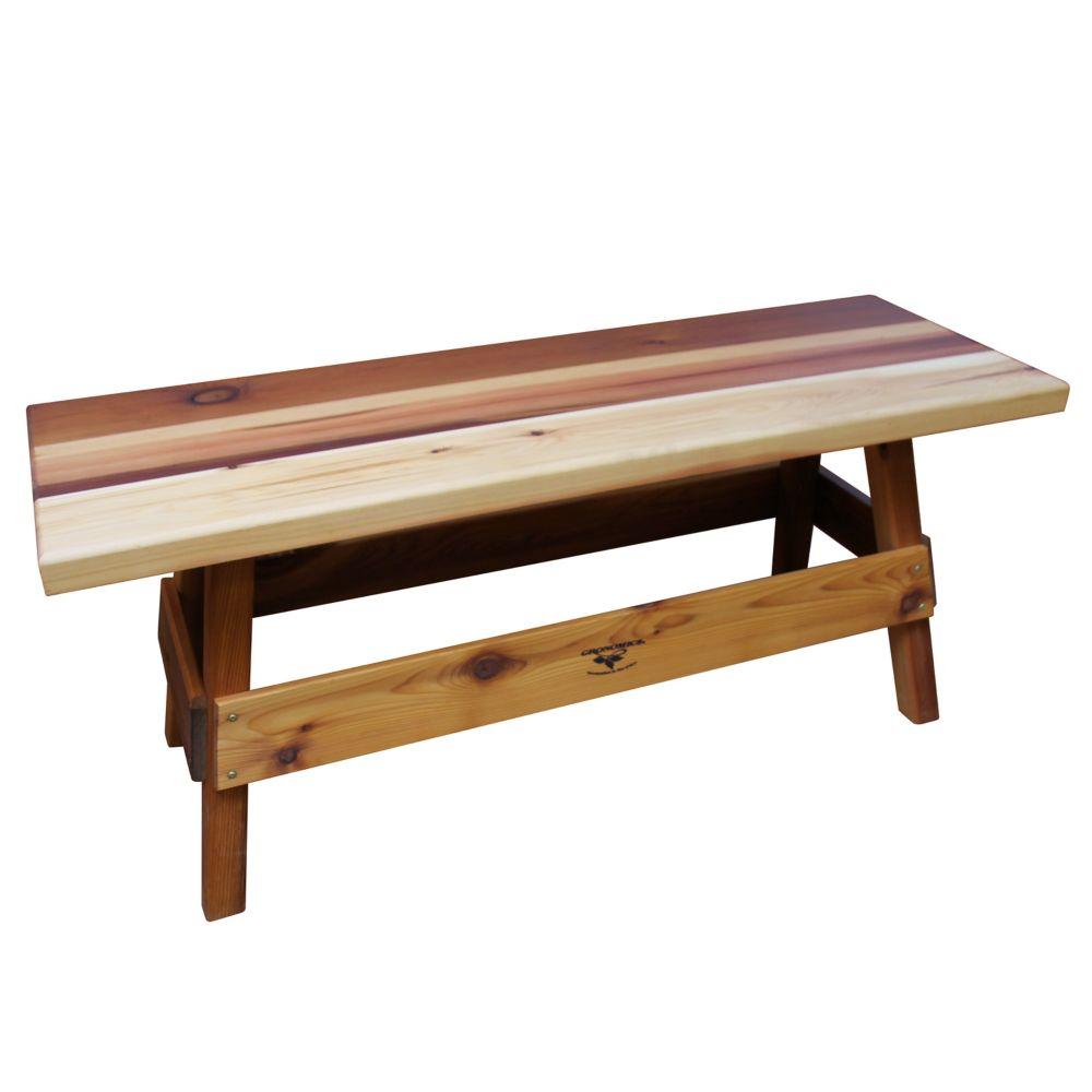 Gronomics 14-inch x 47-inch x 19-inch Cedar Garden Bench