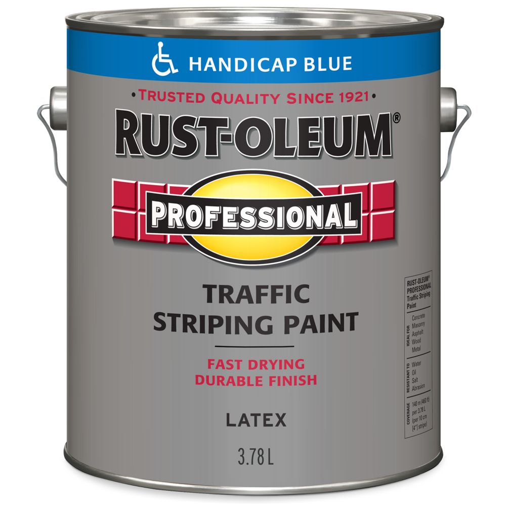 Professionnel Peinture De Lignage Pour Circulation - Bleu Handicap 3.78L