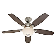Ceiling fans hampton bay hunter more the home depot canada silhouette 52 inch indoor brushed nickel ceiling fan mozeypictures Choice Image