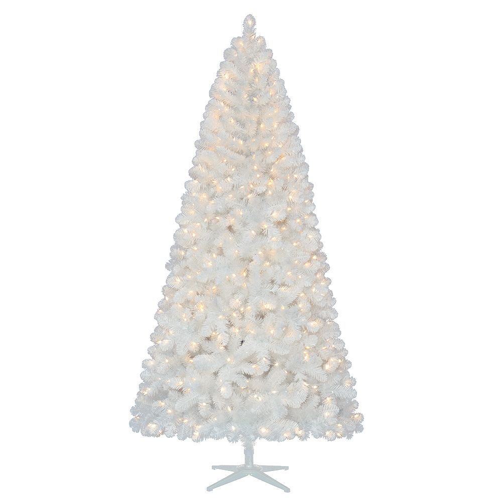 7.5 Feet Glossy White North Hill Tree
