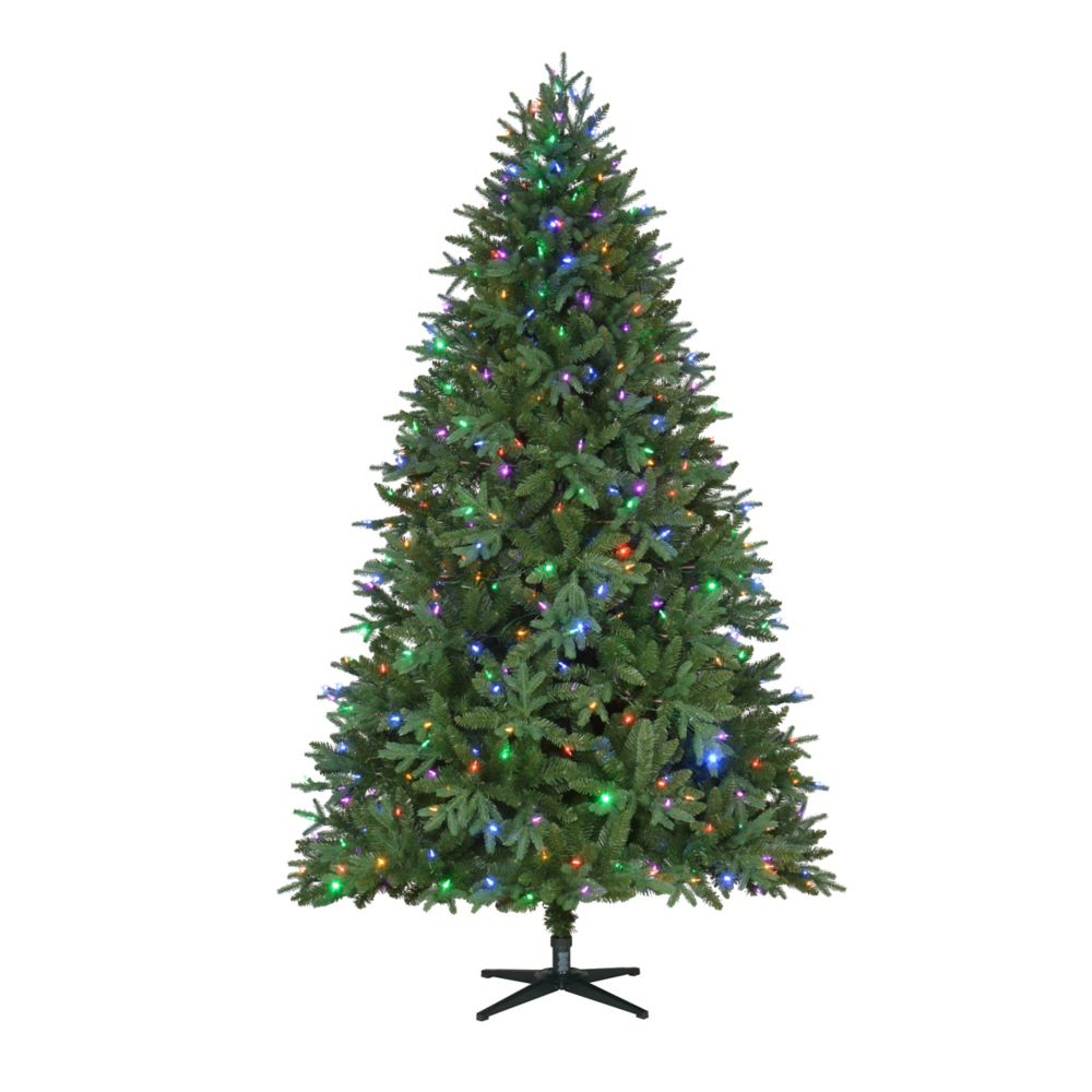 Home Depot Christmas Tree Lot Hours: Home Accent Holiday 7.5 Feet Harrison Fir Pe/Pvc Quick Set