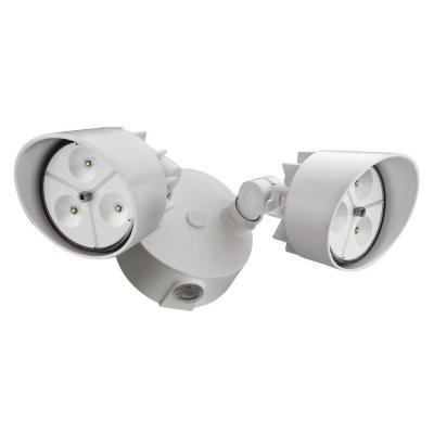 Flood Light - LED Wall Mount 2 Head White