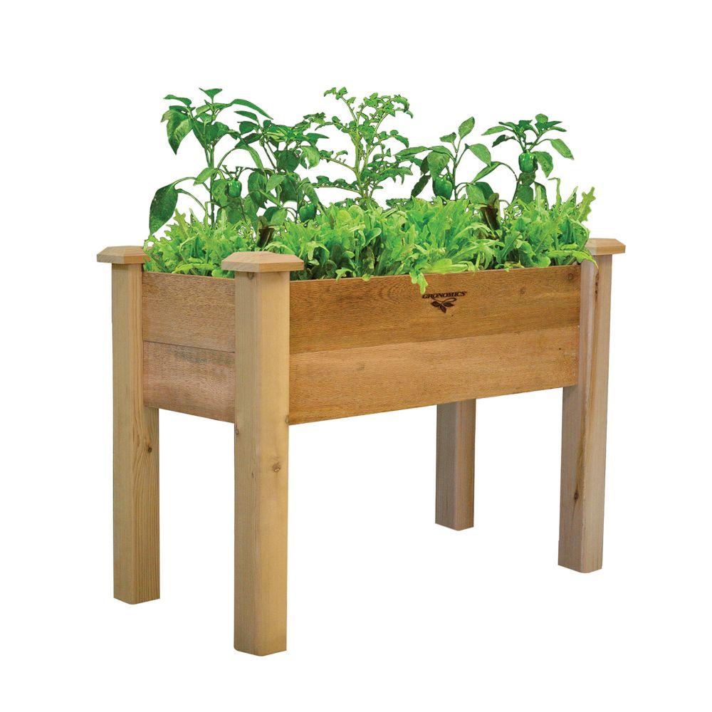 Gronomics 18-inch x 34-inch x 19-inch Rustic Planter Box