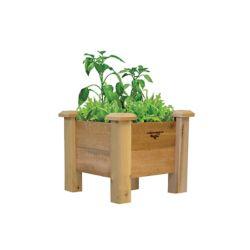Gronomics 18-inch x 18-inch x 19-inch Rustic Planter Box