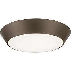 Lithonia Lighting 13 Inch.  Versi LED Textured  Bronze  Round Wet Location Flush Mount 4000K