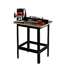 Premium Router Table with Router, Removable Plunge Base, Fence, & Featherboard