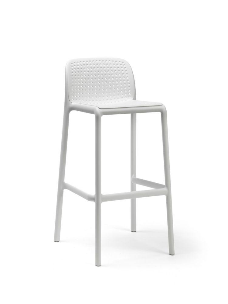 Nardi LIDO Outdoor Resin Barstool in White (4-Pack)