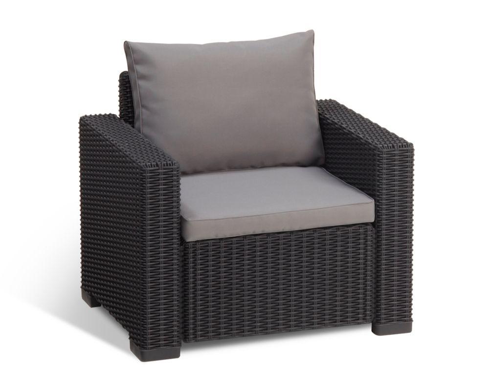 California Outdoor Armchair In Charcoal