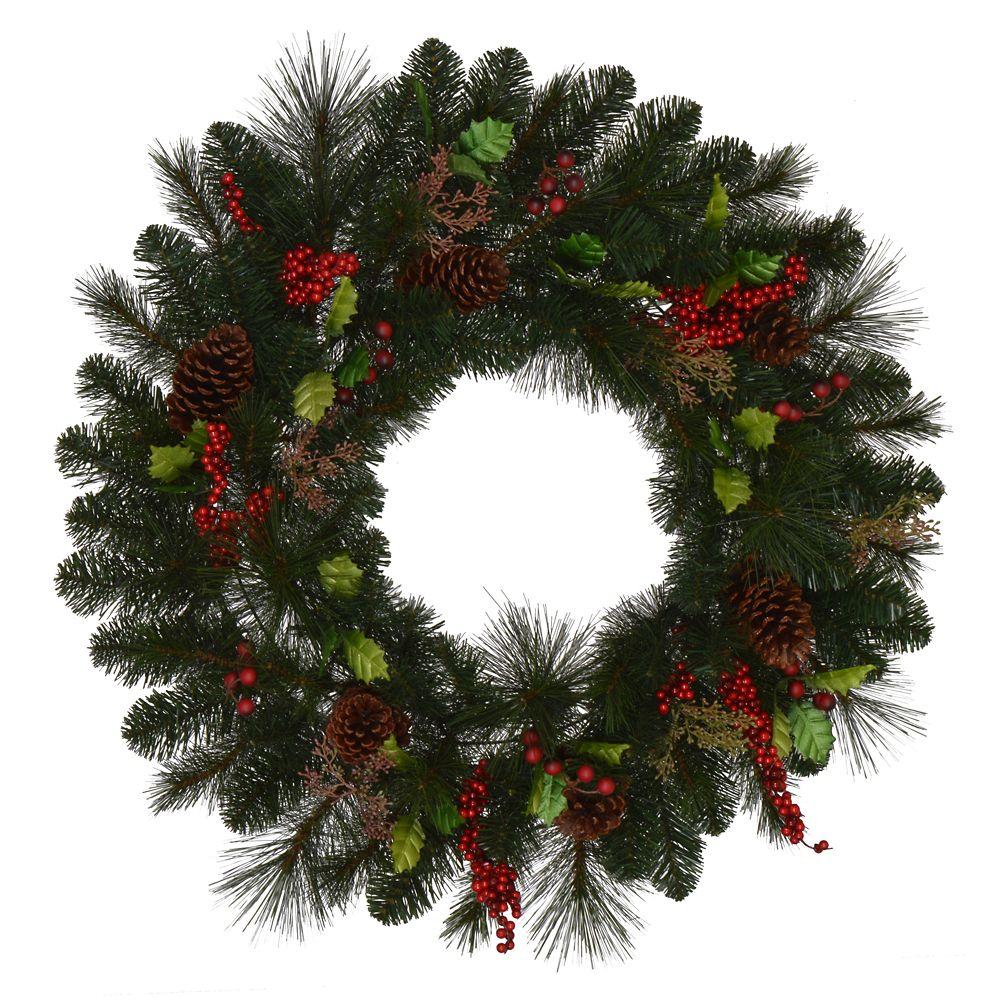 30 Inch Unlit Luxemburg Wreath