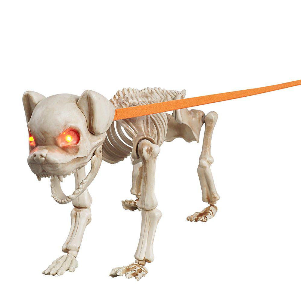 Animated Skeleton Dog With Led Eyes