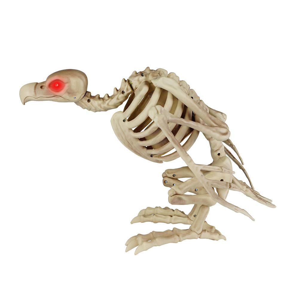 Animated Skeleton Buzzard With Led Eyes