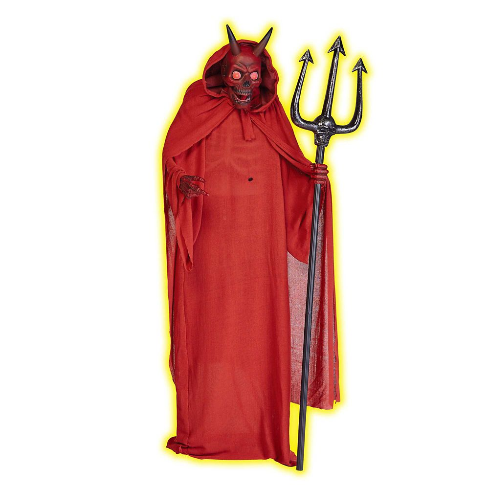 72 Inch Animated Standing Devil With Trident