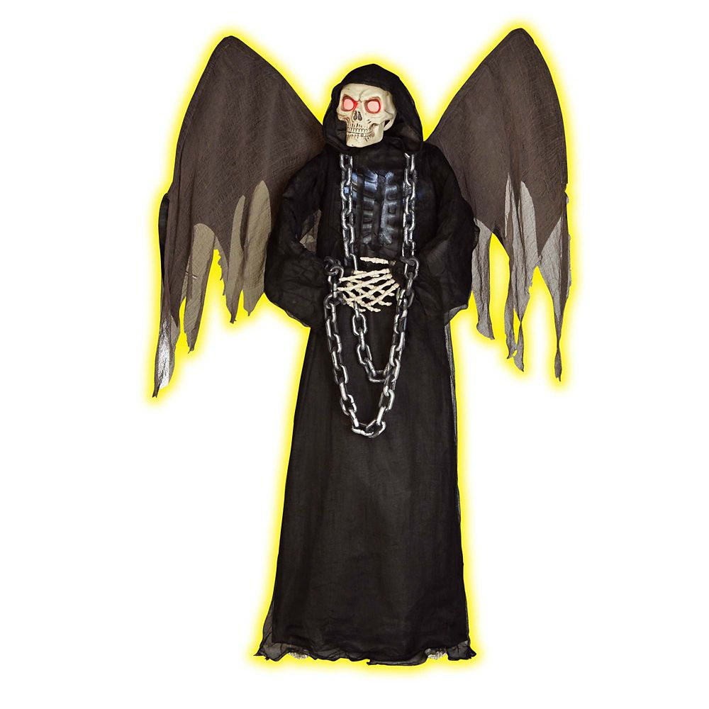 72 Inch Animated Standing Angel Of Death W/Wings