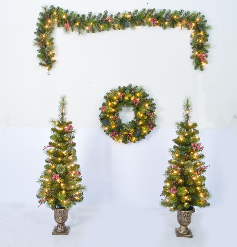 S/4-Frozen Berry Trees, Wreath, Garland