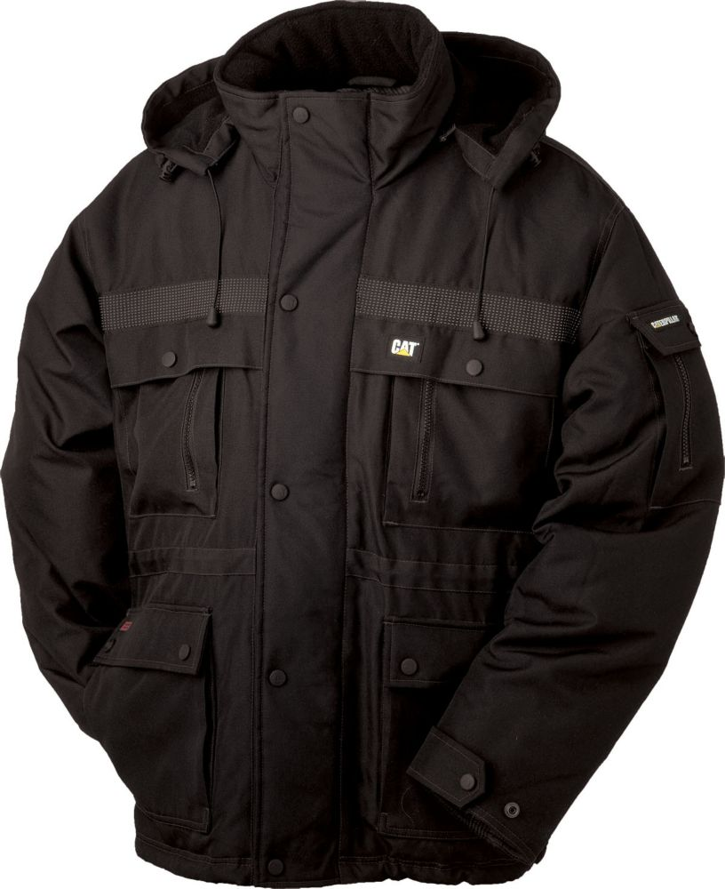Black Heavy Insulated Parka L