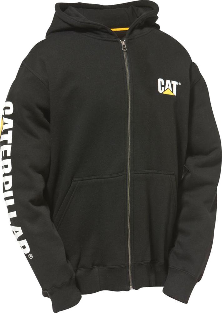 Caterpillar (CAT) Black Full Zip Hooded Sweatshirt L
