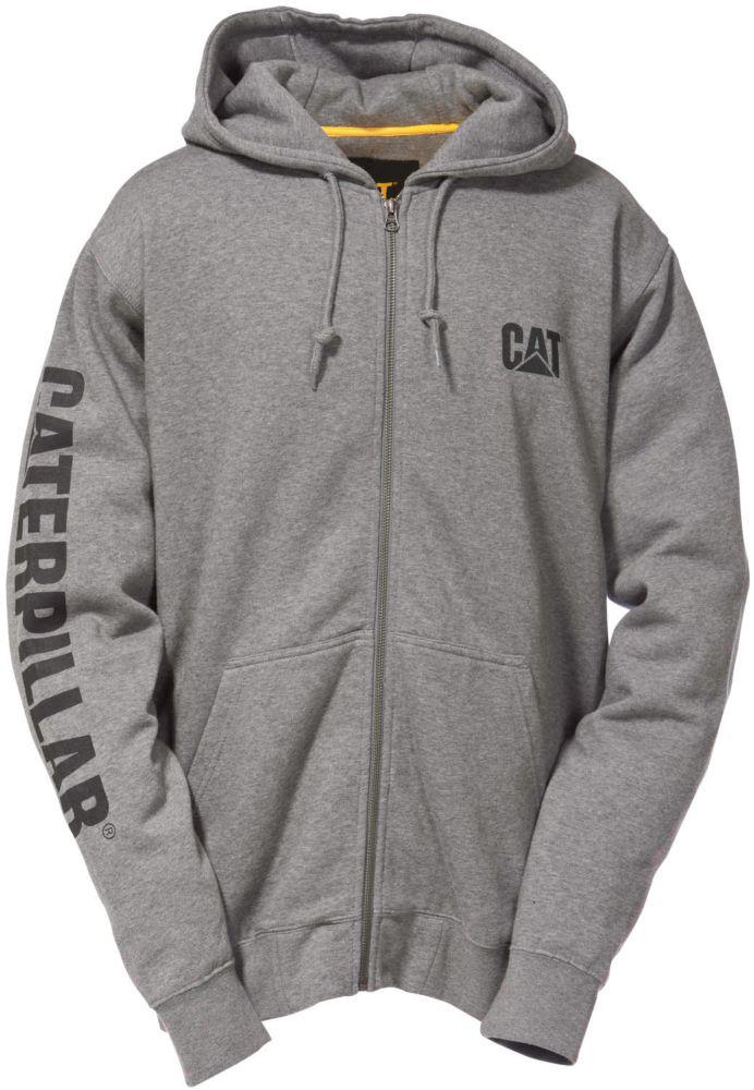 Dk Grey Full Zip Hooded Sweatshirt M