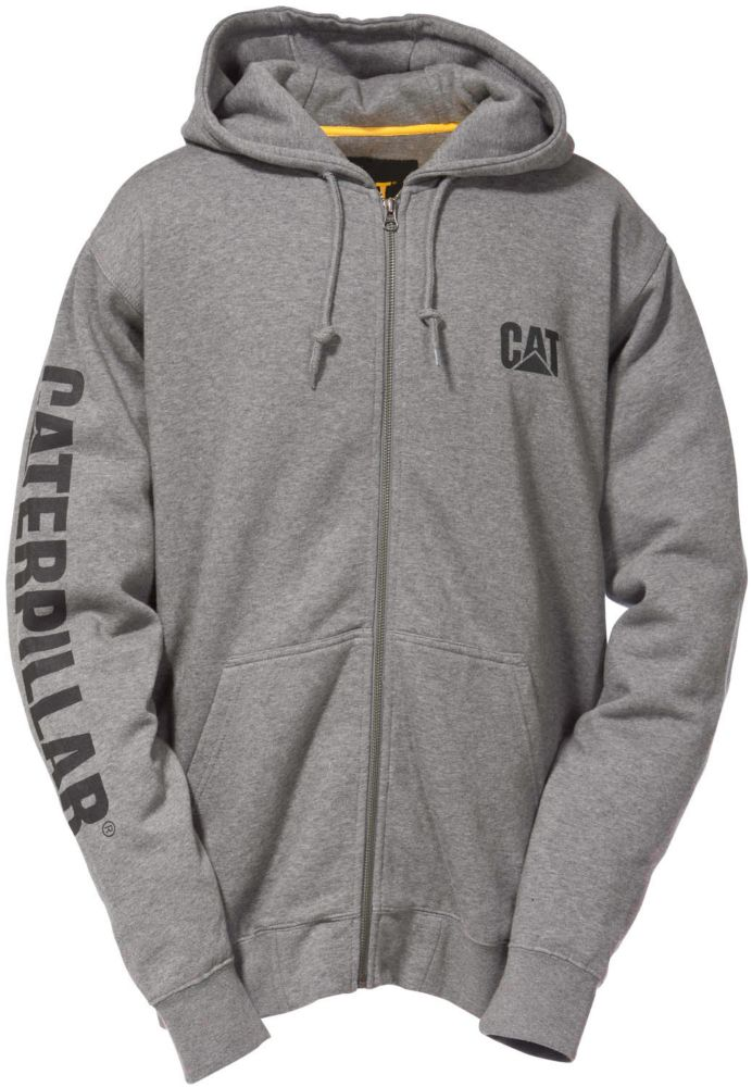 Caterpillar (CAT) Dk Grey Full Zip Hooded Sweatshirt XL