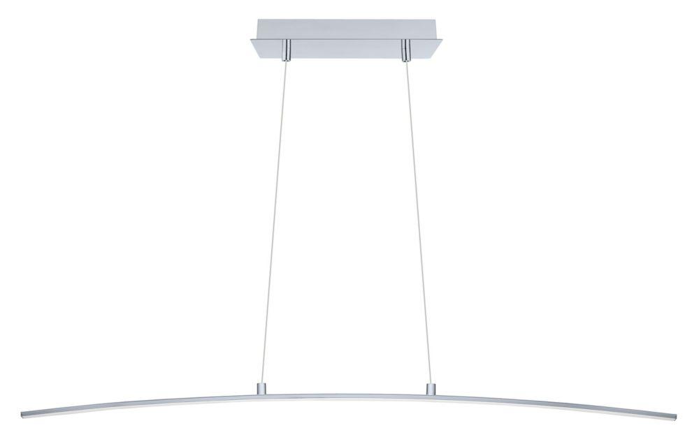 Eglo Lasana LED Pendant Light 1L, Chrome Finish