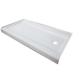 Bootz 60x30x4 Porcelain/Steel Shower Base LH White