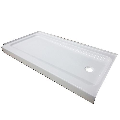 Bootz 60x32x4 Porcelain/Steel Shower Base RH White