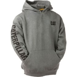Caterpillar (CAT) Dk Grey Trademark Banner Hooded Sweatshirt L