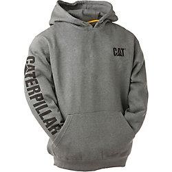 Caterpillar (CAT) Dk Grey Trademark Banner Hooded Sweatshirt XL