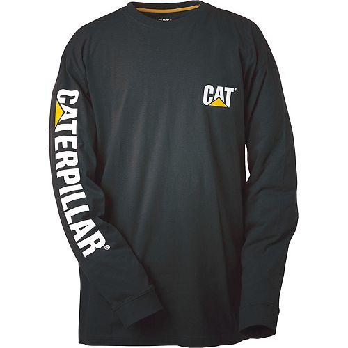 Caterpillar (CAT) Black Trademark Banner L/S Tee M