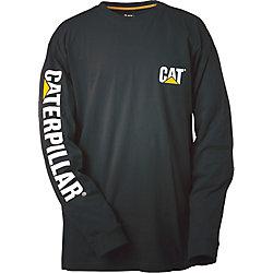 Caterpillar (CAT) Black Trademark Banner L/S Tee XXL