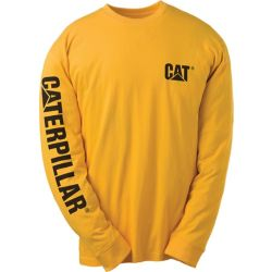 Caterpillar (CAT) Yellow Trademark Banner L/S Tee L