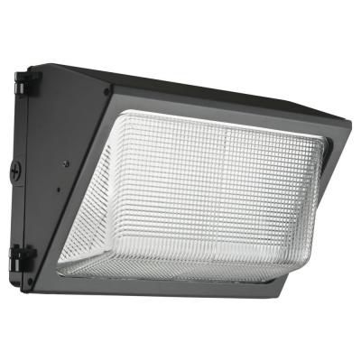 Outdoor LED Small Wall Pack With Glass Lens - Dark Bronze