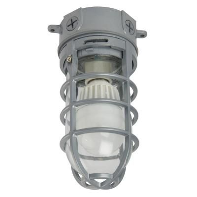 Outdoor LED Ceiling Mount Vapour Tight - Grey
